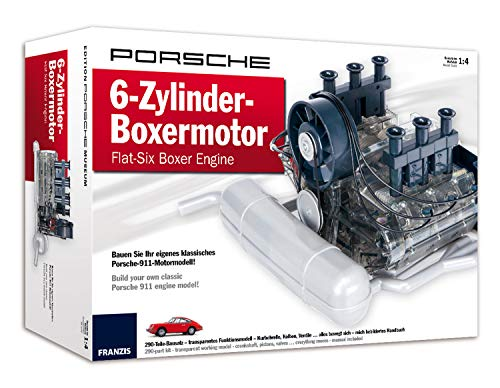 PORSCHE 6-Zylinder-Boxermotor - Flat-Six Boxer Engine: Bauen Sie Ihr eigenes klassisches Porsche-911-Motormodell | Build your own classic Porsche 911 engine model! | Ab 14 Jahren -