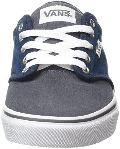 Vans Atwood, Baskets Basses Homme Bleu (Varsity Navy/Gray)