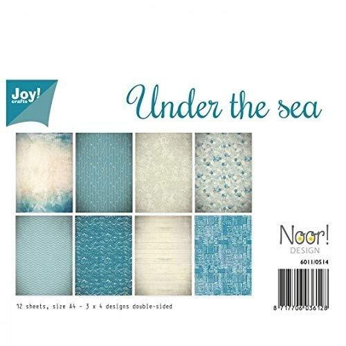 Joy!Crafts tonkartons doppelseitig A4-, unter dem Meer-12Blatt, blau