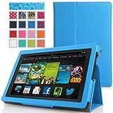 MoKo Amazon All-New Kindle Fire HD 7 Case - Sottile Pieghevole Cover Custodia per Amazon All-New Fire HD 7.0 Inch 2013 Gen Tablet, BLU (Con Smart Cover Auto Sveglia / Sonno, Non Adatto per 2012 Fire HD 7 / 2013 Fire HDX 7 o HD 7 2014 Gen)