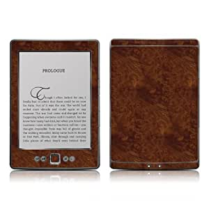"Kindle 4 skin - Dark Burlwood - High quality precision engineered removable adhesive skin for the Amazon Kindle (4th generation Wi-Fi 6"" E Ink Display e-book reader)"