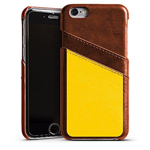 Apple iPhone 4 Housse Étui Silicone Coque Protection Jaune Jaune soleil Printemps Étui en cuir marron