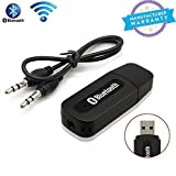 #10: 5g Gold Bluetooth Stereo Adapter Audio Receiver 3.5Mm Music Wireless Hifi Dongle Transmitter Usb Mp3 Speaker Car(Black)