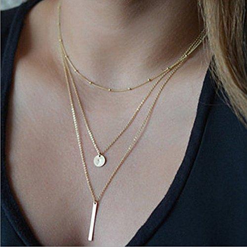Yean Halskette Anhänger Multilayer Halskette für Frauen und (Diy Paar 40 Kostüme)