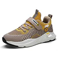 WANONE Trainers Kids Breathable Boys Girls Running Shoes Sneakers Athletic Casual Child Sports Yellow