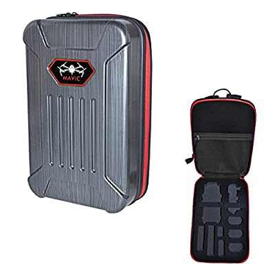 N.ORANIE Mavic Explosion-proof Box Carrying Case, Drone Body Carrying Case and Remote Controller Transmitter Bag,Shoulder Backpack Hardshell