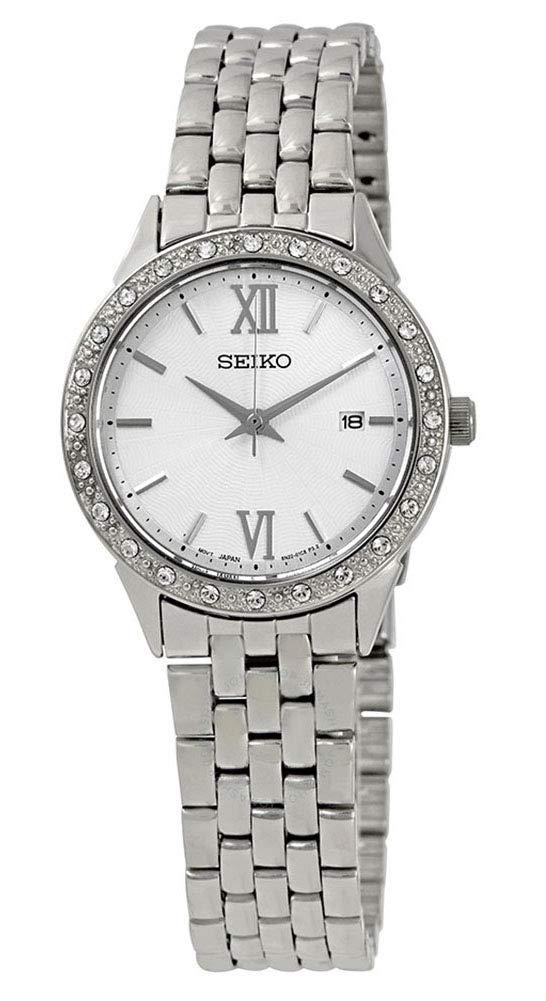 Seiko Reloj Analógico para Mujer de Cuarzo con Correa en Acero Inoxidable SUR695P1