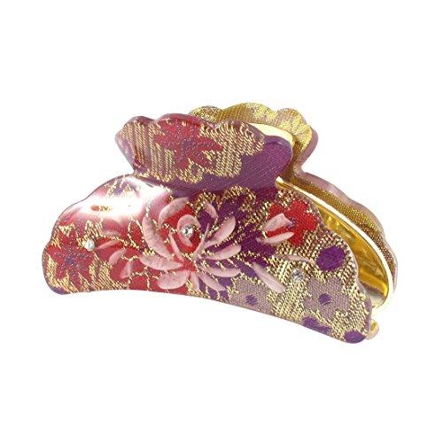 Sourcingmap Kunststoff Frau Clamp Zähne Design Hair Clip Claw 8,9cm Länge Purple