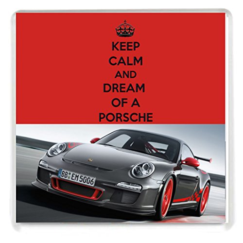 keep-calm-and-dream-of-a-porsche-drinks-coaster-with-an-image-of-a-grey-porsche-911-gt3-rs-from-our-