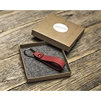 Rotes Schlüsselband Leder Schlüsselanhänger Klammer Schlüssel Anhänger