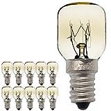 10 Stück/Pack SES E14 Schraubsockel vernickelt Pygmy Lampen 300 Grad Mikrowellen-/Ofen-bewertete Glühbirne Nachtlampe 25.00W 240.00V