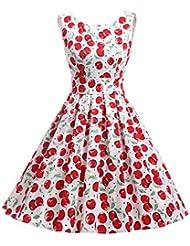 Dressystar Damen Audrey Hepburn 50s Retro Vintage Rockabilly Swing Kleider