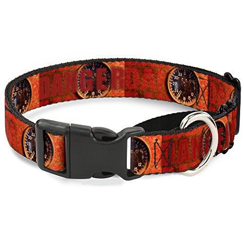 Fit Gauge (Buckle Down Gefahr Gauge Martingale Hundehalsband, 2,5cm Wide-fits 22,9-38,1cm Neck-small)