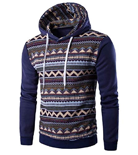 CuteRose Mens Light Weight Slim Fitted Active Pullover Sweatshirt Hoodies Denim Blue 2XL Aeropostale Zip