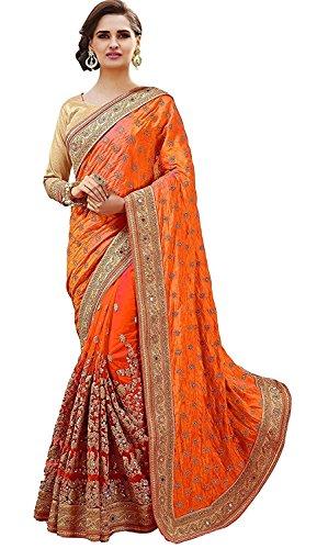 SareeShop Women's Georgette saree for women latest design 2018 with Blouse Piece...