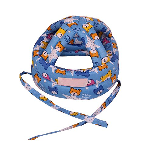 Eizur Unisex Bebè Cappello Protezione della Testa Casco Traspirante Bambini Sicurezza Cappello Resistenza goccia Berretto Copricapo protettivo Taglia L - Rosso