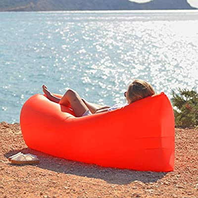 Waterproof Inflatable Lounger Portable Inflatable Sofa Air Bed Sleeping Sofa Couch, Outdoor Beach, Travel, Camping - low-cost UK light shop.