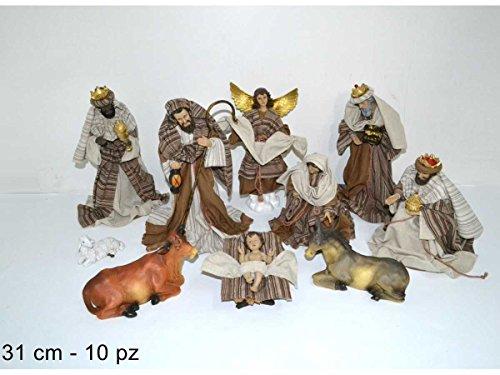 Set Krippenfiguren '10Stück 31cm, Figuren Hohe Qualität' mit Kleidung Stoff Geschlecht für Hotel, Salz Ereignisse Kirchen, Krippen ausstellungsflächen
