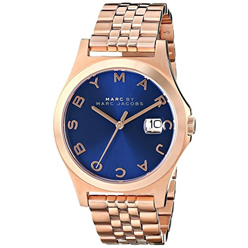 Marc Jacobs MBM3316 37mm Gold Plated Stainless Steel Case Rose Gold Gold Plated Stainless Steel Mineral Men's Watch