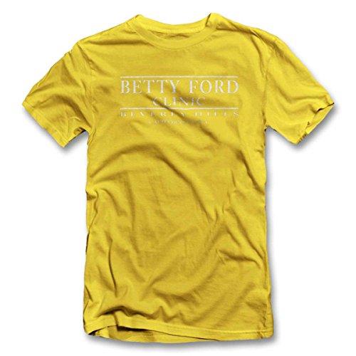 Betty Ford Clinic T-Shirt S-XXL 12 Farben / Colours Gelb