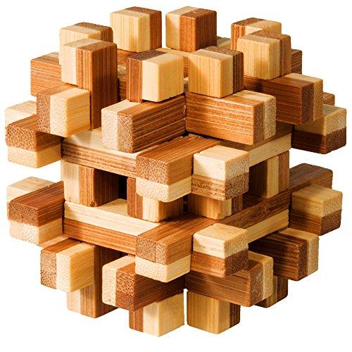 """Preisvergleich Produktbild Bambus-Puzzle """"magic blocks"""" IQ-Test Knobelspiel Holz"""