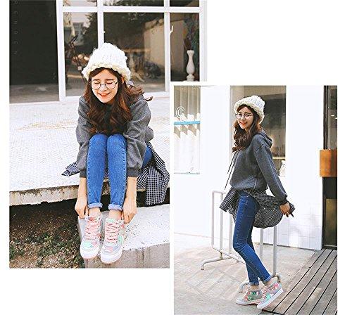 ALUK- Printemps Et Automne Version Coréenne De La Rue Chaussures De Toile Haute Pour Aide Chaussures Casual ( couleur : Gray , taille : 38 ) Gray