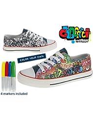 Zapatilla Lona Infantil - Graffiti By Beppi - Zapatillas para colorear Niñas