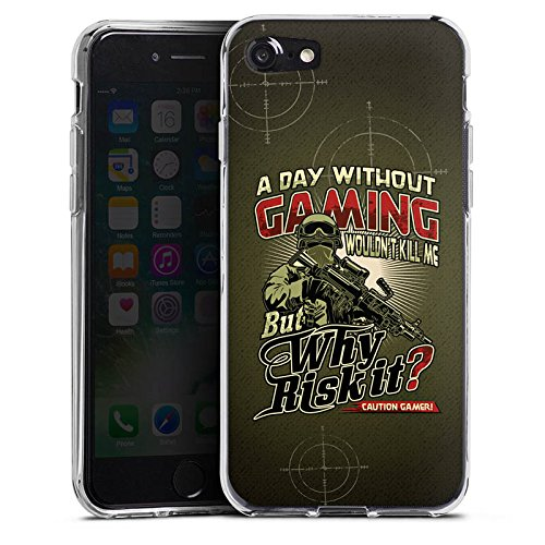 Apple iPhone X Silikon Hülle Case Schutzhülle Gaming Spruch Gamer Silikon Case transparent