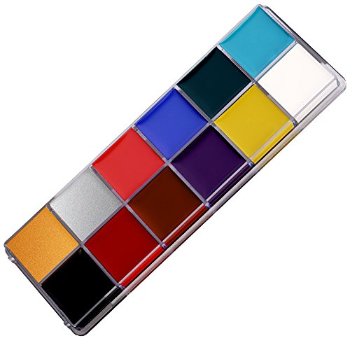 Mermaid 12 Farben Bodypainting Gesicht und Körper Schminke Palette Körperfarben gesichtsfarbe set Facepainting Make up Palette Halloween Carnaval maskenspiel für Kinder und (Halloween Paint Kostüme Body)