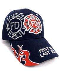 U.S Fire Department - Casquette brodée embleme des Pompiers américain - Taille Unique
