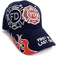 U.S Fire Department - Casquette brodée embleme des Pompiers américain -  Taille Unique 939222ba988