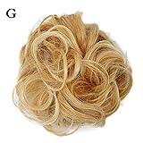 QINPIN - Parrucca da donna, capelli ricci e disordinati