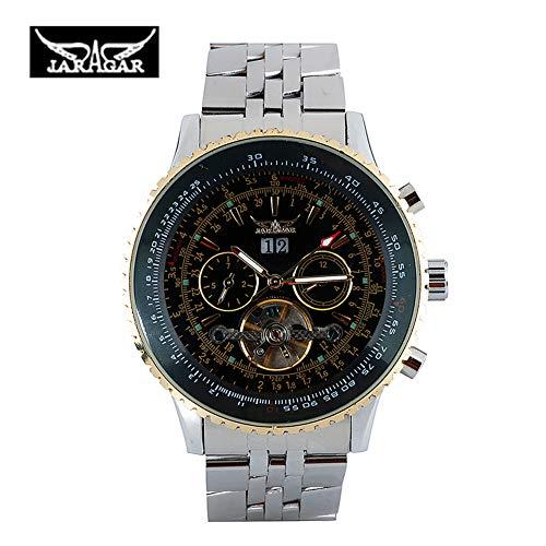 Jaragar - Reloj de Pulsera mecánico automático de Acero Inoxidable para Hombres y Mujeres