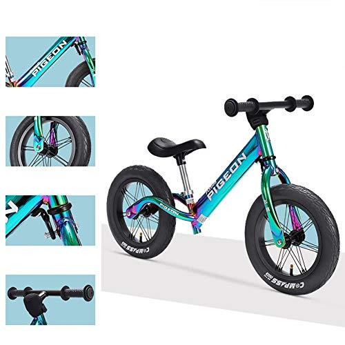 Ultra-Bequeme Kinder Fahrrad, 12-Zoll-Air Reifen Kein Pedal-Kinder-Fahrrad Für 2-6 Year Old Boys & Girls, Kleinkind Laufrad Aus Aluminiumlegierung, Einstellbare Höhe