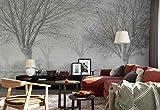 Vlies Fototapete Fotomural - Wandbild - Tapete - Faded Bäume Park Feld - Thema Wald und Bäume - XL - 368cm x 254cm (BxH) - 4 Teilig - Gedrückt auf 130gsm Vlies - 1X-1266694V8