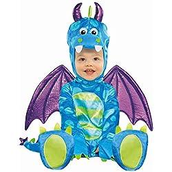 Amscan International Revestimiento trajes de carnaval Little Dragon 6-12 Meses