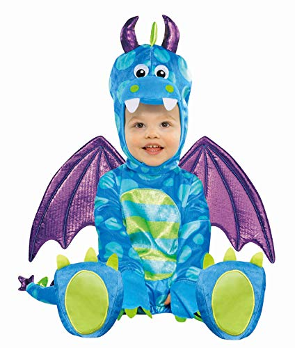Amscan 999667 Kinderkostüm Kleiner Drache, Mehrfarbig, 12-18 Monate (Dress Halloween Monate Fancy 12-18)
