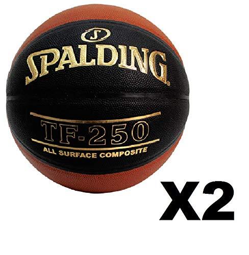 2 Pack Spalding TF-250 Basketball Brick Black Size