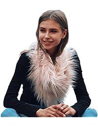7b87c36ba96f Vlunt Peluche Col Écharpe Femme Fausse Fourrure Mode Chaud Hiver Faux Fur  Femme Collier Echarpe Tube
