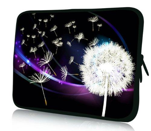 Luxburg® Design Laptoptasche Notebooktasche Sleeve für 14,2 Zoll, Motiv: Pusteblume Laptoptasche 14 Zoll