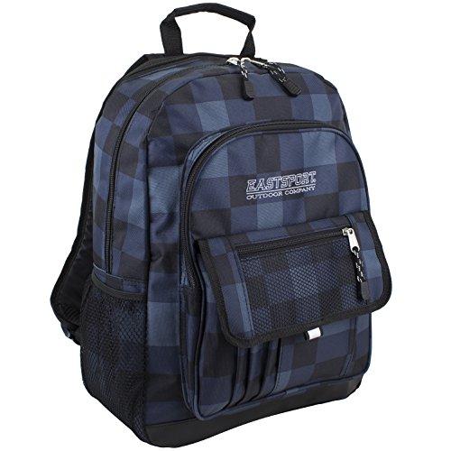 eastsport-tech-sport-backpack-rucksack-fur-alle-gelegenheiten-blau-kariert