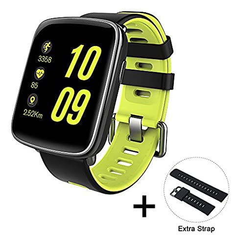 DIGGRO GV68 IP68 Waterproof Smart Watch HD Screen 32MB + 32MB Heart Rate Monitor Health Pedometer Sleep Monitor Activity Tracker with Sedentary Reminder Message Notification Remote Music & Camera Anti-lost Bluetooth Wristband for Android & IOS Smartphone
