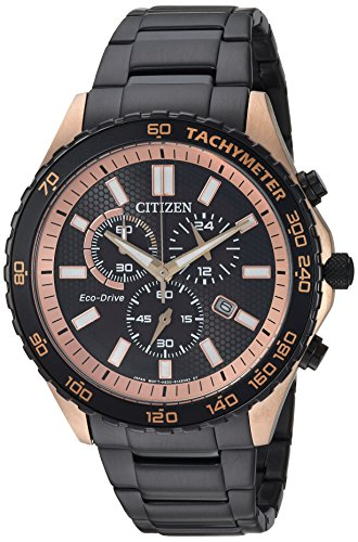 Citizen 'Citizen' Orologio al quarzo acciaio INOX casual, colore: Nero (Model: AT2125 – 59E)