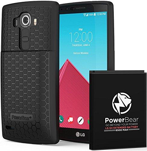 PowerBear Batería Extendida Compatible LG G4 [6.500mAh]