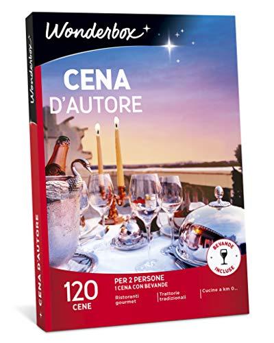 Wonderbox cofanetto regalo per coppia - cena d'autore - 120 cene per 2 persone