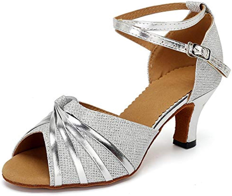 HCCY HCCY HCCY Scarpe da Danza Latina con Tacco Alto e Tacco Alto in argentoo Lucido | Folle Prezzo  b52d99