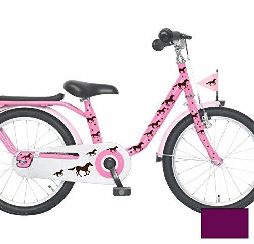 ilka parey wandtattoo welt Fahrradaufkleber Fahrradsticker Aufkleber Pferde Pferdchen Fohlen Punkte Fahrradtattoo M1418 - ausgewählte Farbe: *Lila*