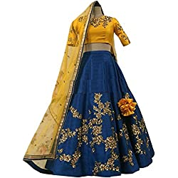 Lehenga Choli (StyleVilla Women's Heavy Embroidered Tafeta Silk lehnga/Lehenga Choli/Lehenga Choli For Women)