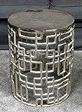 MichaelNoll Couchtisch Wohnzimmertisch Sofatisch Beistelltisch Tisch Eisen Silber 48 cm