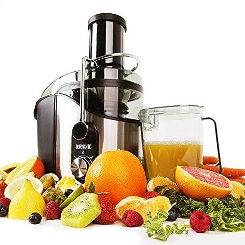 Duronic JE8 – Licuadora de 800W ideal para zumos fresco caseros con Vaso de 1L *2 años de garantía gratis*